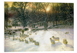 Print på skumplade  The Shortening Winter's Day is Near a Close - Joseph Farquharson