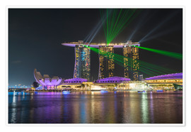 Premium-plakat  Marina Bay Sands Hotel in Singapore - Peter Schickert