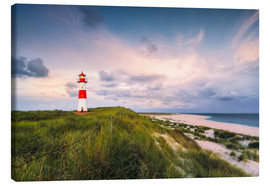 Lærredsbillede  Lighthouse in the morning light (Sylt / Elbow / List East) - Dirk Wiemer