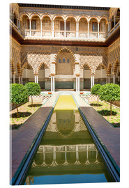 Akrylbillede  Court of the virgins in the royal Alcazar - Matteo Colombo