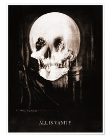 Premium-plakat  All is vanity (Sepia) - Charles Allan Gilbert