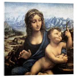 Akrylbillede  Madonna with the mandrel - Leonardo da Vinci