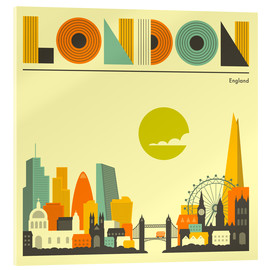 Akrylbillede  London skyline - Jazzberry Blue