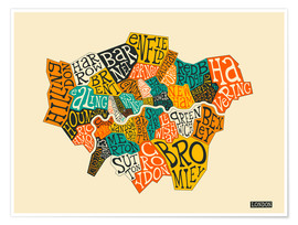 Premium-plakat  London Boroughs - Jazzberry Blue
