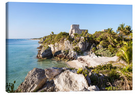 Lærredsbillede  Famous maya ruins of Tulum on the caribbean sea, Mexico - Matteo Colombo