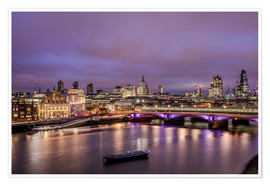Premium-plakat  London Skyline Night - Sören Bartosch