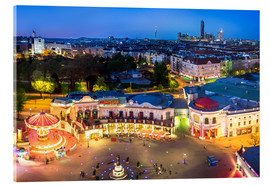 Akrylbillede  View from the Vienna Giant Ferris Wheel on the Prater - Benjamin Butschell