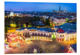 Print på skumplade  View from the Vienna Giant Ferris Wheel on the Prater - Benjamin Butschell