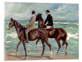 Akrylbillede  Two Riders on the Beach - Max Liebermann