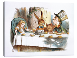 Lærredsbillede  Alice's mad tea party - John Tenniel