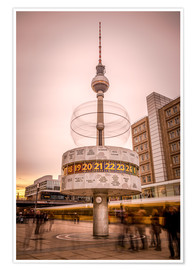Premium-plakat World Timer Berlin