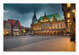 Premium-plakat Bremen Market Square with City Hall