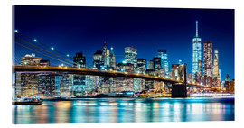 Akrylbillede  New York illuminated Skyline - Sascha Kilmer