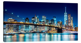 Lærredsbillede  New York illuminated Skyline - Sascha Kilmer