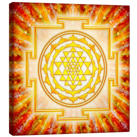 Lærredsbillede  Sri Yantra - Artwork light - Dirk Czarnota