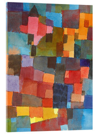 Akrylbillede  Room Architectures - Paul Klee