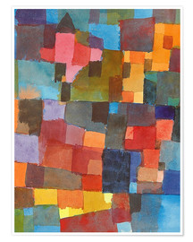 Premium-plakat  Room Architectures (On Cold-Warm) - Paul Klee