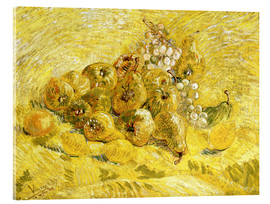 Akrylbillede  Quinces, Lemons, Pears and Grapes - Vincent van Gogh