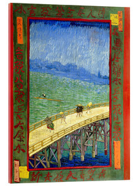 Akrylbillede  Bridge in the rain, after Hiroshige - Vincent van Gogh