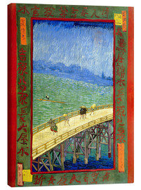 Lærredsbillede  Bridge in the rain, after Hiroshige - Vincent van Gogh