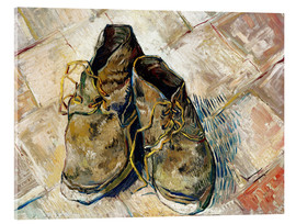 Akrylbillede  A Pair of Shoes - Vincent van Gogh