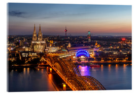 Akrylbillede  Cityscape Cologne Germany - Achim Thomae