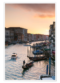 Premium-plakat Sunset over the Grand Canal in Venice, Italy