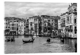 Akrylbillede  Venice black and white - Filtergrafia