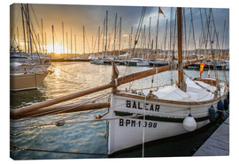 Lærredsbillede  Historic sailboat in the port of Palma de Mallorca - Christian Müringer