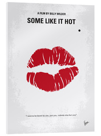 Akrylbillede  Some like it hot minimal movie poster - chungkong