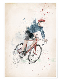 Premium-plakat I want to ride my bicycle