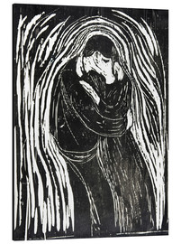 Print på aluminium  The Kiss II - Edvard Munch
