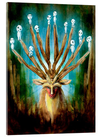 Akrylbillede  The Deer God of Life and Death - Barrett Biggers