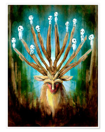 Premium-plakat  The Deer God of Life and Death - Barrett Biggers
