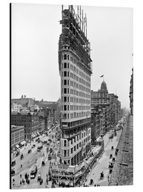 Print på aluminium  New York City 1903, Flatiron Building under construction - Sascha Kilmer
