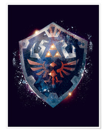 Premium-plakat  Epic Shield of Hyrule - Barrett Biggers