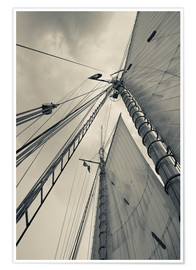 Premium-plakat Masts, ropes and sails