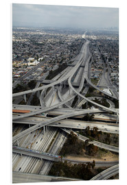Print på skumplade  Highways in Los Angeles - David Wall