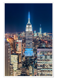 Premium-plakat Empire State Building from Top Of The Rock
