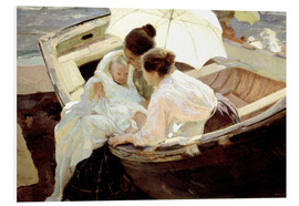 Print på skumplade  After the bath - Joaquín Sorolla y Bastida