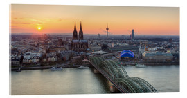 Akrylbillede  Panorama view of Cologne at sunset - Michael Valjak