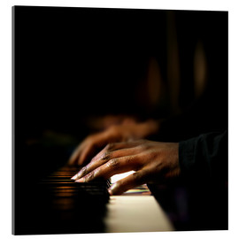 Akrylbillede  Close-up of a pianist's hands playing the piano - Johan Swanepoel