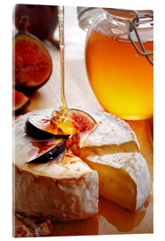 Akrylbillede  Brie Cheese and Figs with honey - Johan Swanepoel