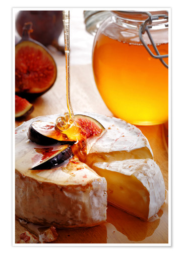 Premium-plakat Brie Cheese and Figs with honey