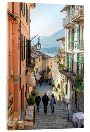 Akrylbillede  Street in the town of Bellagio, lake Como, Italy - Matteo Colombo