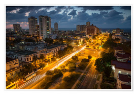 Premium-plakat View of Havana