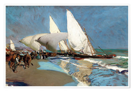 Premium-plakat  The beach at Valencia - Joaquín Sorolla y Bastida