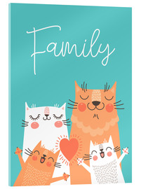 Akrylbillede  Family cats - Kidz Collection