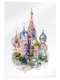 Akrylbillede  St. Basil's Cathedral