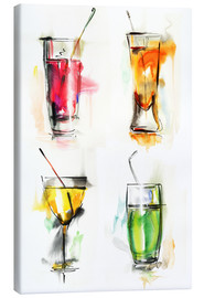 Lærredsbillede  Colorful drinks